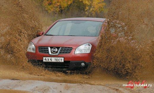 Nissan Qashqai на бездорожье