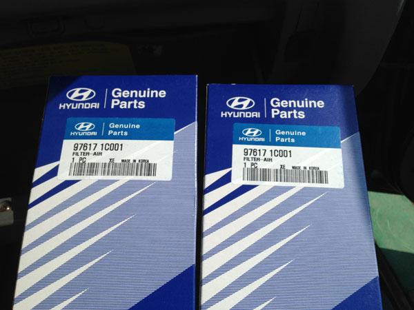 оригинальный салонный фильтр Hyundai 97617-1C001