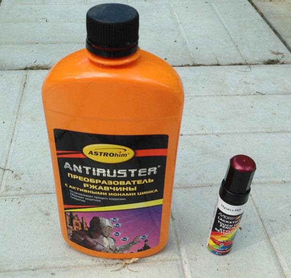 Преобразователь ржавчины и краска Motip - ремонтный набор