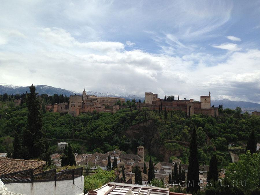 Знаменитая Альгамбра, куда мы так и не попали