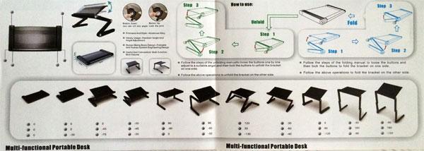 Варианты сборки столика для ноутбука