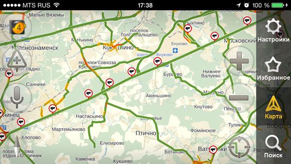 Список камер радаров на Киевском шоссе 2014