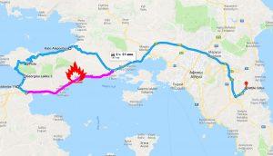 Объездная дорога в Афины