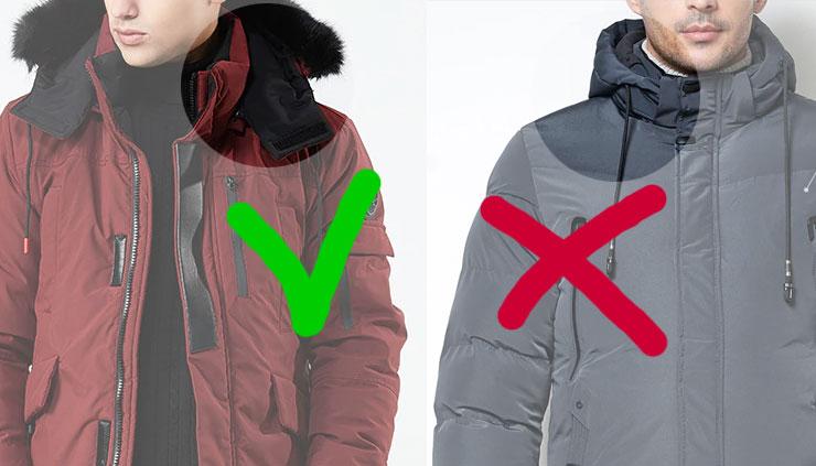 Правильный капюшон куртки должен иметь свои застежки, утягиваться и закрывать низ лица от ветра.