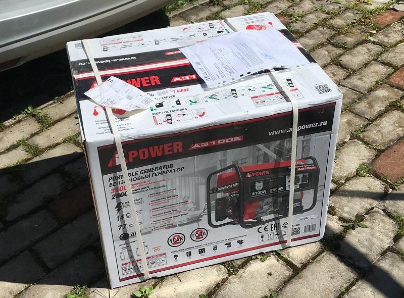 Покупка генератора A-ipower. Цена мне понравилась.
